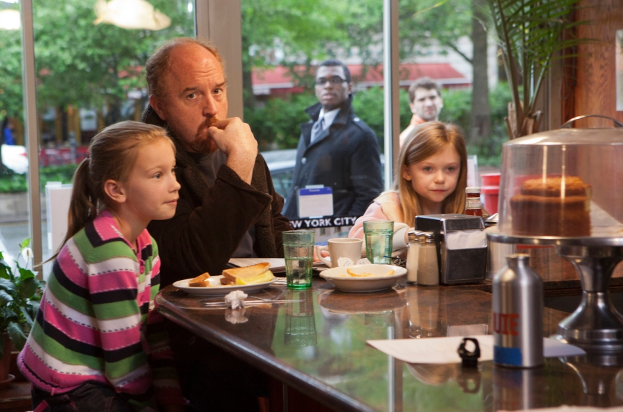 LOUIE: Episode 4: Daddy's Girlfriend, Pt. 1 (Airs July 19, 10:30 pm e/p). L-R: Hadley Delaney as Lilly, Louis C.K. as Louie, Ursula Parker as Jane. CR: K.C. Bailey/FX